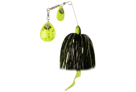The Pig Spinnerbait Fluo Chart Black Dot - Green/ Black/ Silver