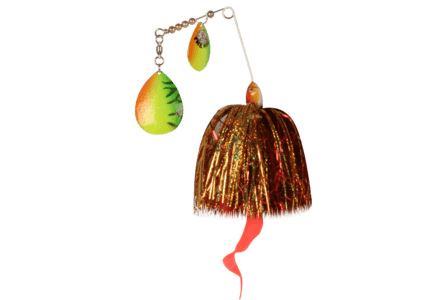 The Pig Spinnerbait Firetiger - Green/ Gold/ Pearl