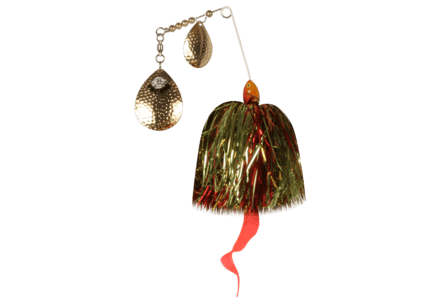 The Pig Spinnerbait Gold - Green/ Red/ Gold