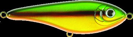 Strike Pro Buster Jerk Slow Sinking 15cm Firebird