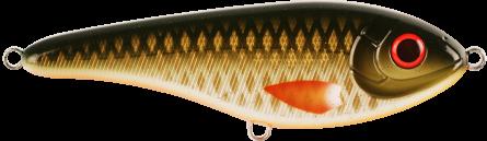 Strike Pro Buster Jerk Slow Sinking 15cm Golden Olive