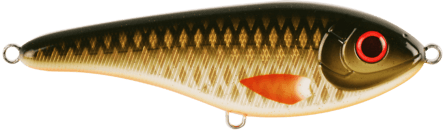 Strike Pro Buster Jerk Shallow 15cm Golden Olive