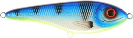 Strike Pro Buster Jerk II Susp 12cm Ocean Blue