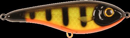 Strike Pro Buster Jerk II Susp 12cm Black Okoboji Perch