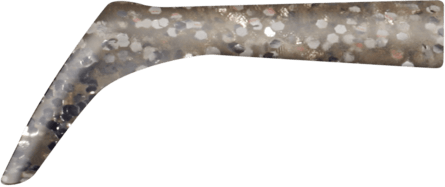 Strike Pro Bandit Paddle Tail Spare 2pcs Silver Glitter