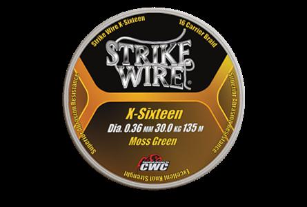 Strike Wire X-Sixteen X16, 0,32/25kg 135m, Mossgreen