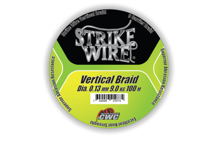 Strike Wire Vertical Braid X8, 0,13mm/9kg 100m, Kiwi Green