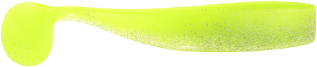 Lunker City Shaker Shad 11,5cm Chartreuse Silk Ice - 8pack